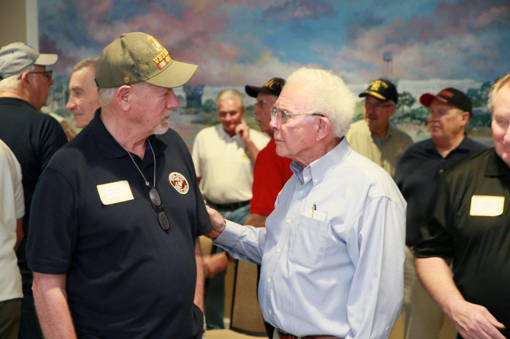Col. Myron Harrington at reunion
