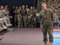 Gen. Walters at assembly