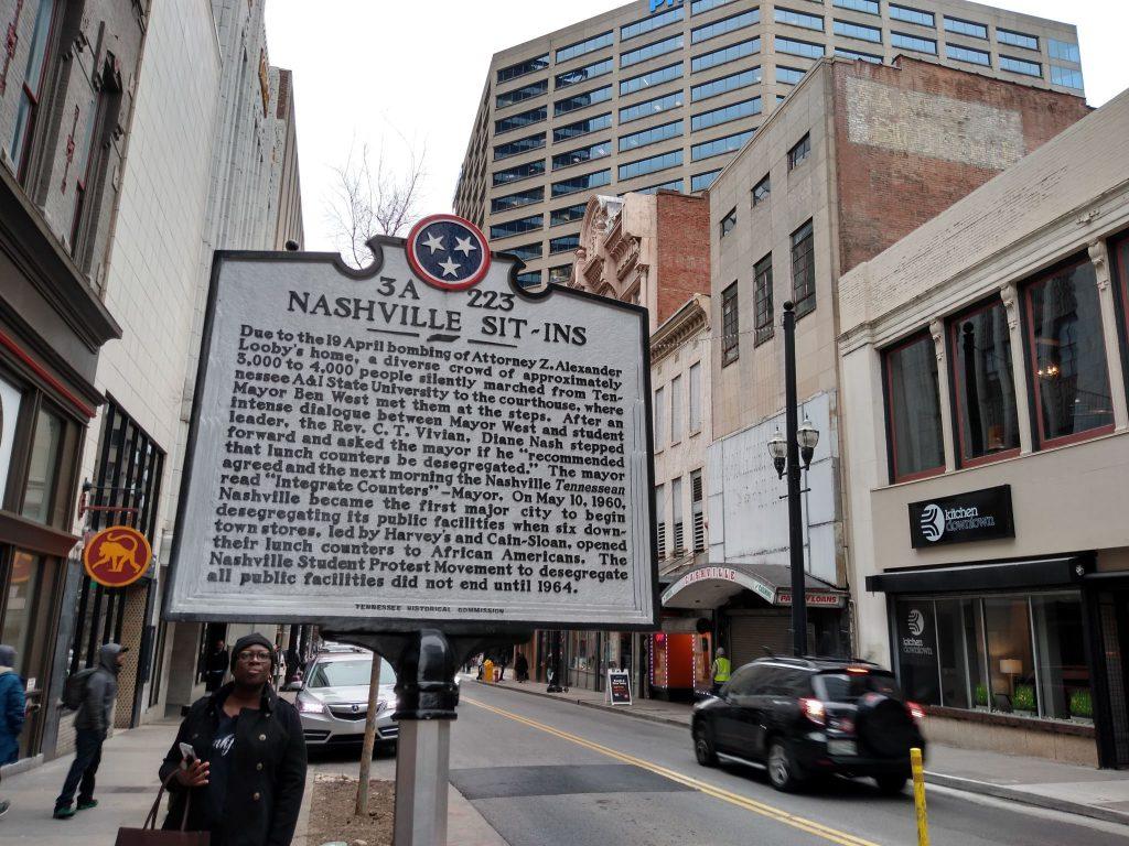 Nashville Sit-ins sign