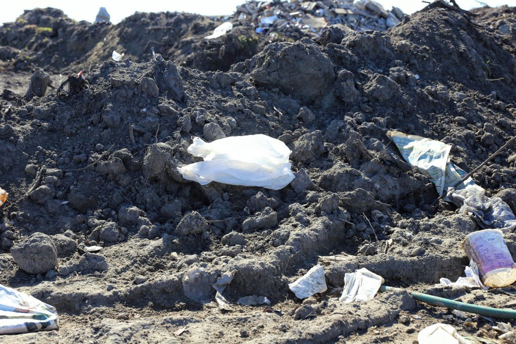 Plastic trash at landfill (Courtesy: Victoria Hansen, SC Public Radio)