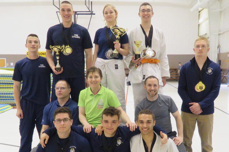 The Citadel Judo team, March 2019