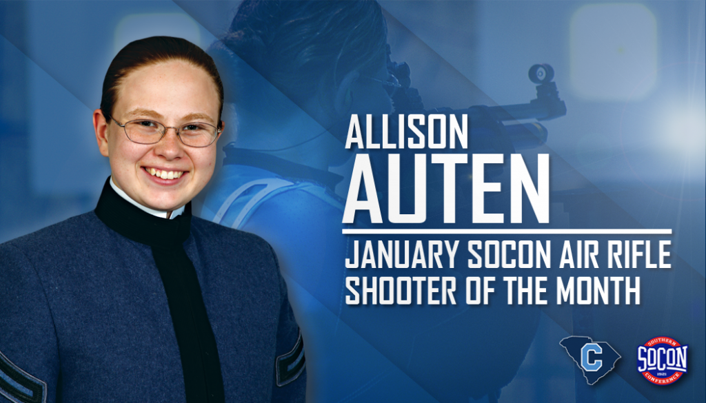 Allison Auten, The Citadel Class of 2019, named SoCon rifle shooter of the month