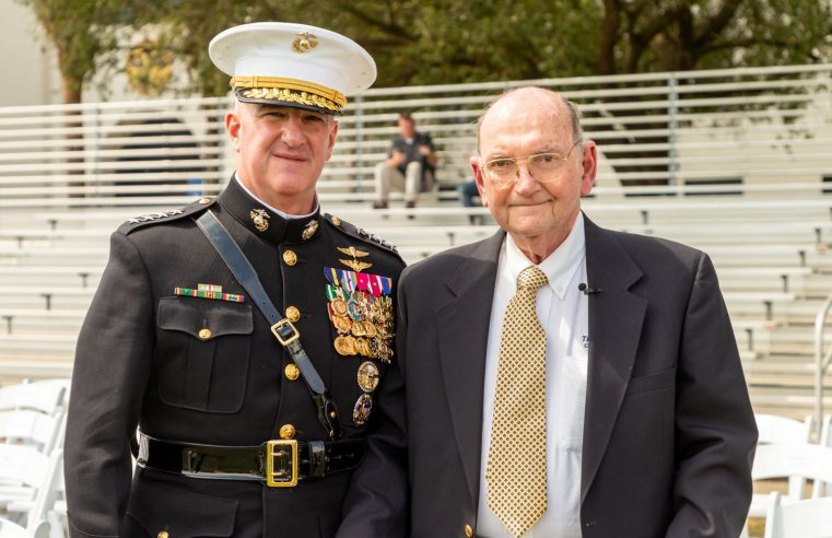 Buck Newton and with Gen. Walters