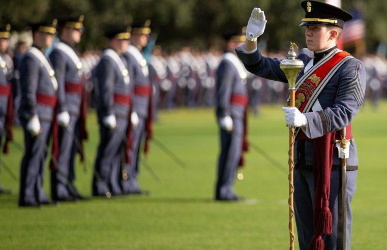 Cadet Hunter Crawley, The Citadel Class of 2019, first woman Drum Major for The Citadel Regimental Band and Pipes