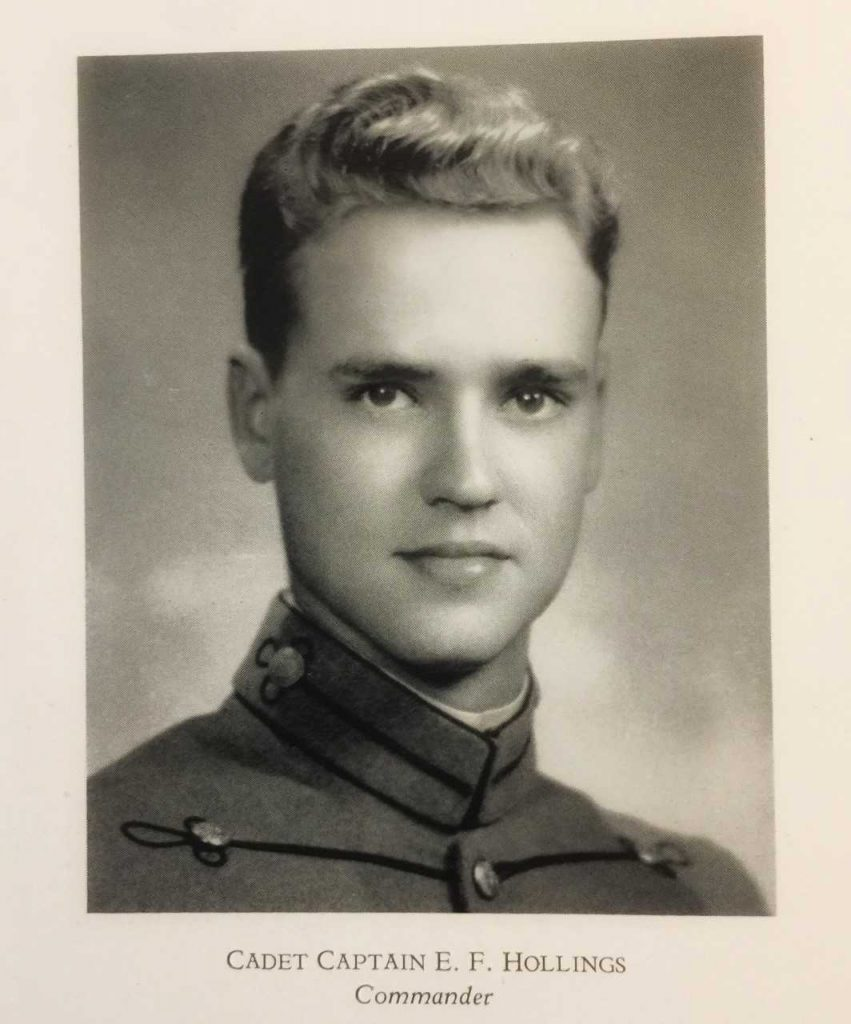 "Cadet Ernest Frederick ""Fritz"" Hollings, The Citadel 1942"