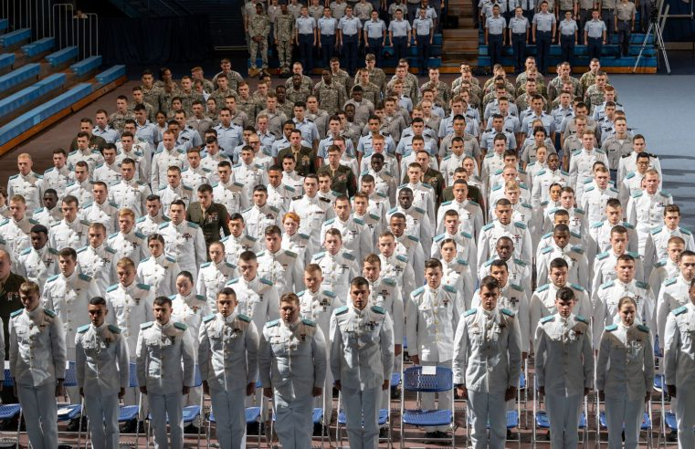 Cadets at Joint ROTC Awards Ceremony