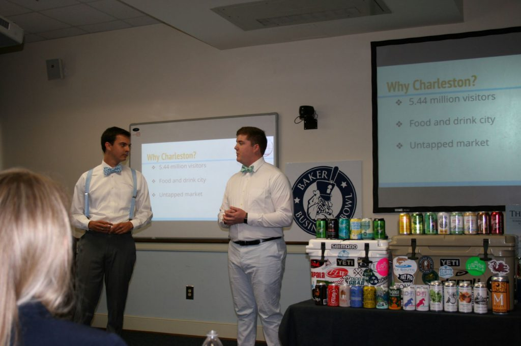 Drink Up presenting at the Baker Business Bowl