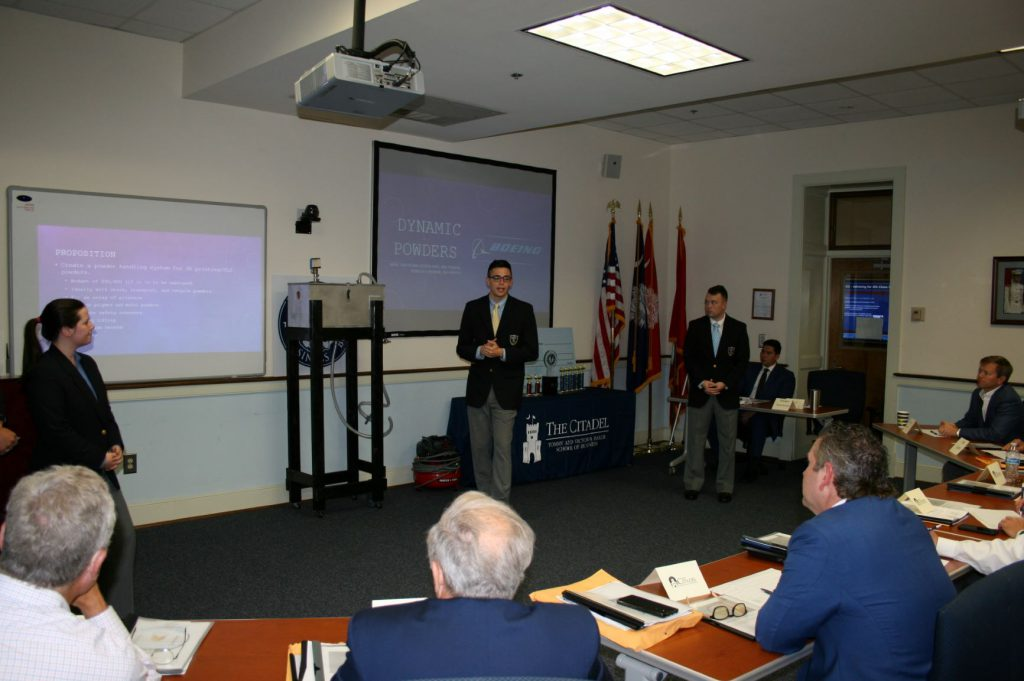 Dynamic Powders presenting at the Baker Business Bowl