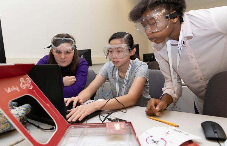 Girls attending Citadel NSA GenCyber Camp 2018