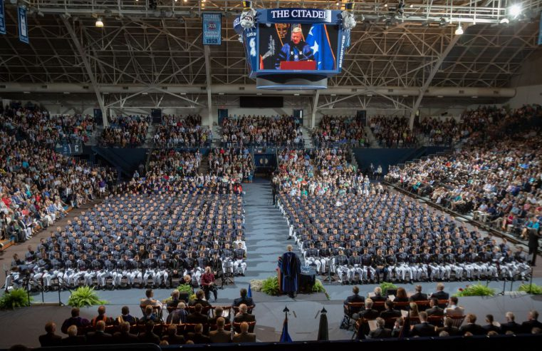 South Carolina Corps of Cadets commencement 2018
