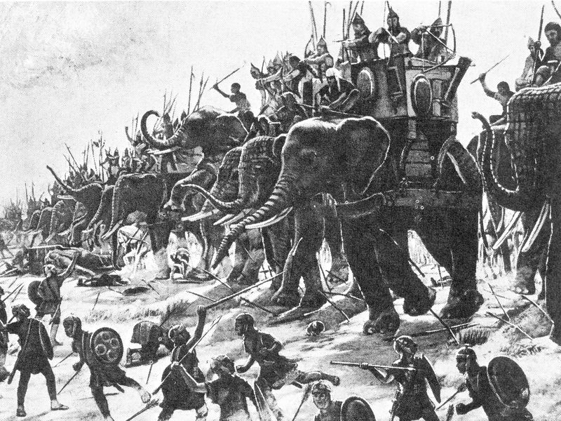 Smithsonian image of the Battle of Zama by Henri-Paul Motte