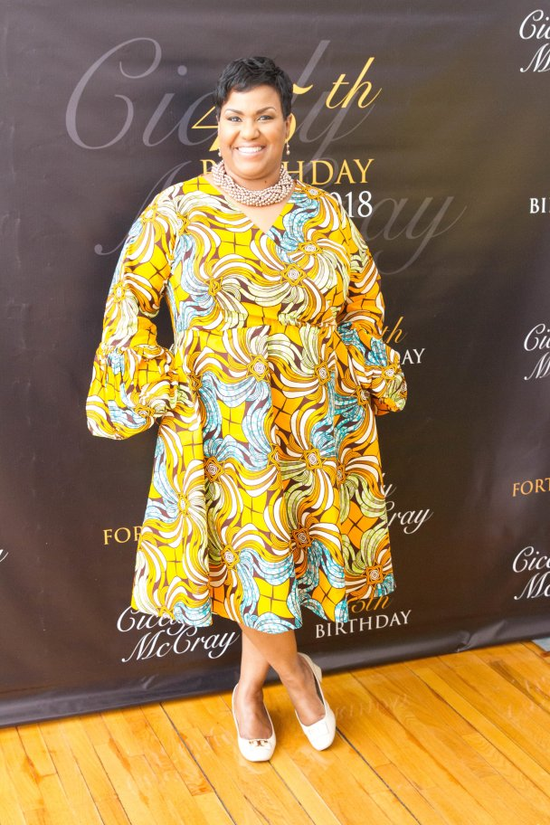 Cicely McCray on her 45th birthday in 2018