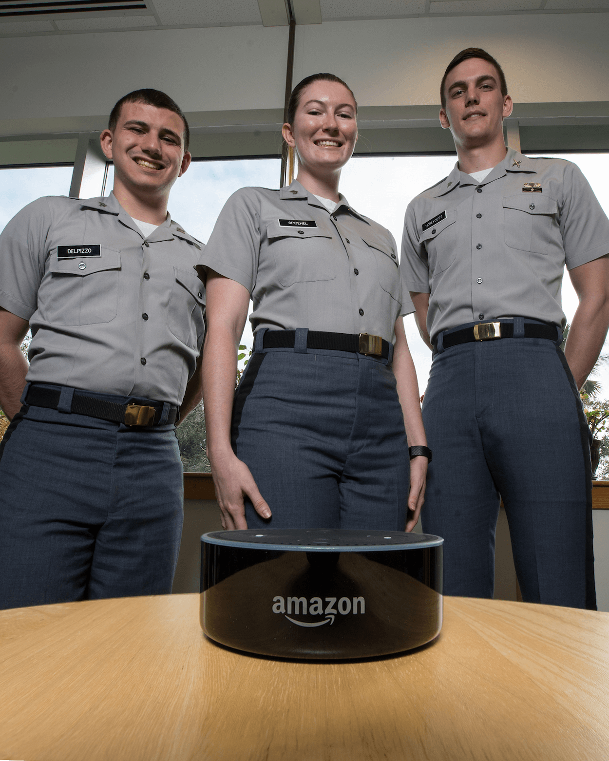 Cadets John Delpizzo, Elizabeth Spoehel, and Richard Honeycutt, all cyber security minors, have been analyzing the security of the IoT for over a year.