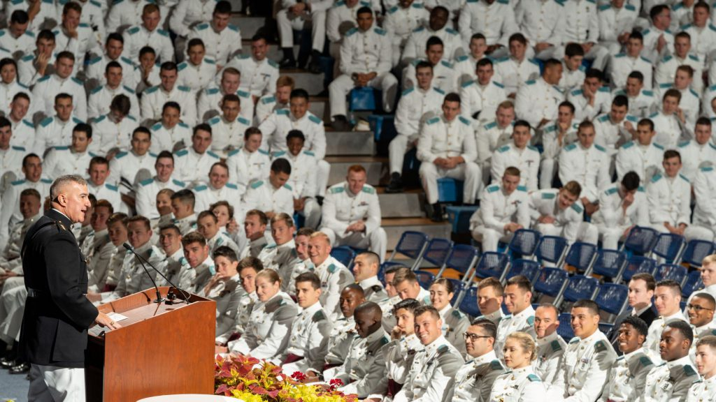 Gen. Walters speaking at awards convocation 2019