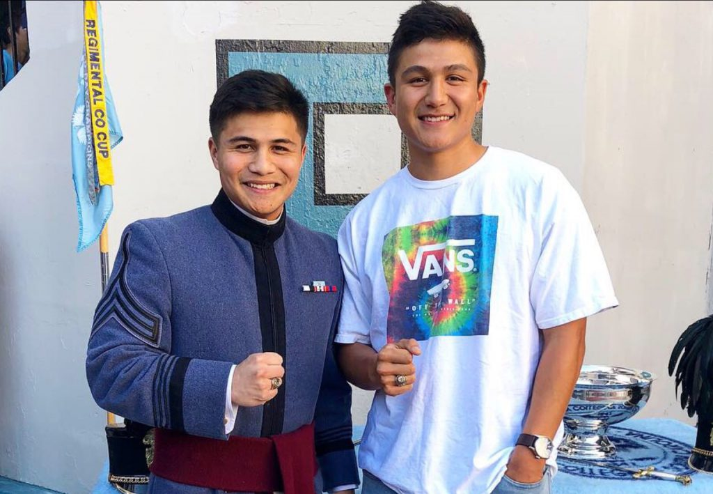 Koy Mai, left, and his brother, Andrew Mai, '16