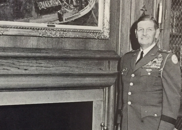 Maj. Gen. Reuben H. Tucker, The Citadel Commandant of Cadets, as photographed in 1968