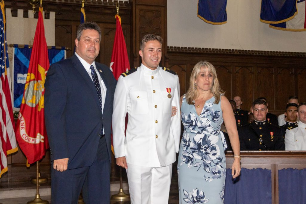 Navy after pins commissioning ceremony