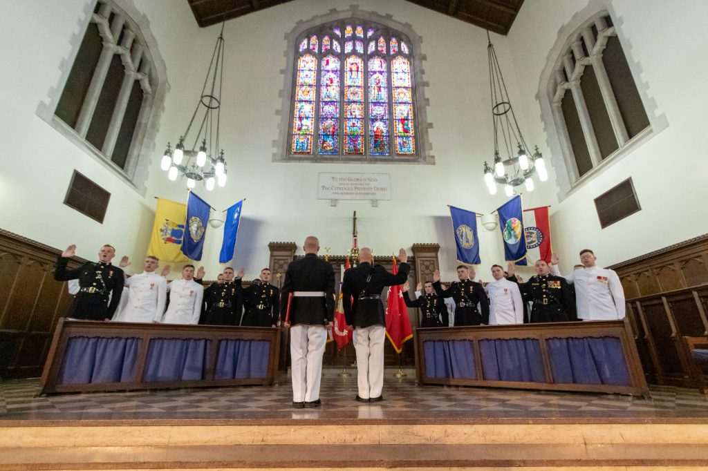 Navy and Marines commissioning ceremony