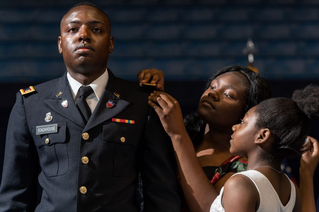 Pinning during Army Commissioning ceremony 2019