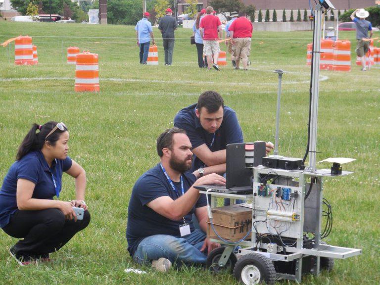 The Citadel's 2016 intelligent vehicle, Pablobot, and its student creators