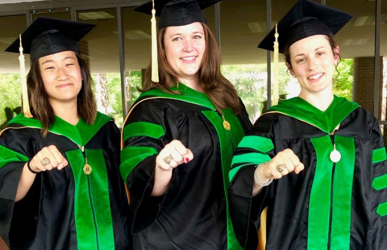 Citadel alumnae Dr. Jane Ma, '15, Dr. Sarah Katchen, '14, Dr. Emily Green, '10, all graduated from the Medical University of South Carolina together in May 2019