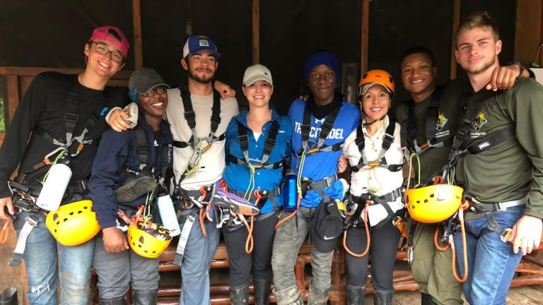 The Citadel's zipline group in the Amazonian Basin of Peru