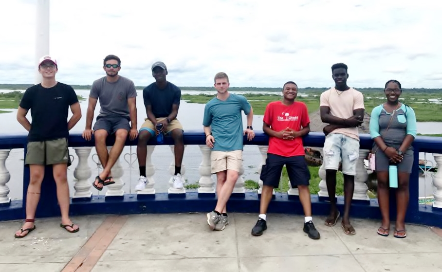 The Citadel 2019 study abroad group in Peru's Amazon Basin