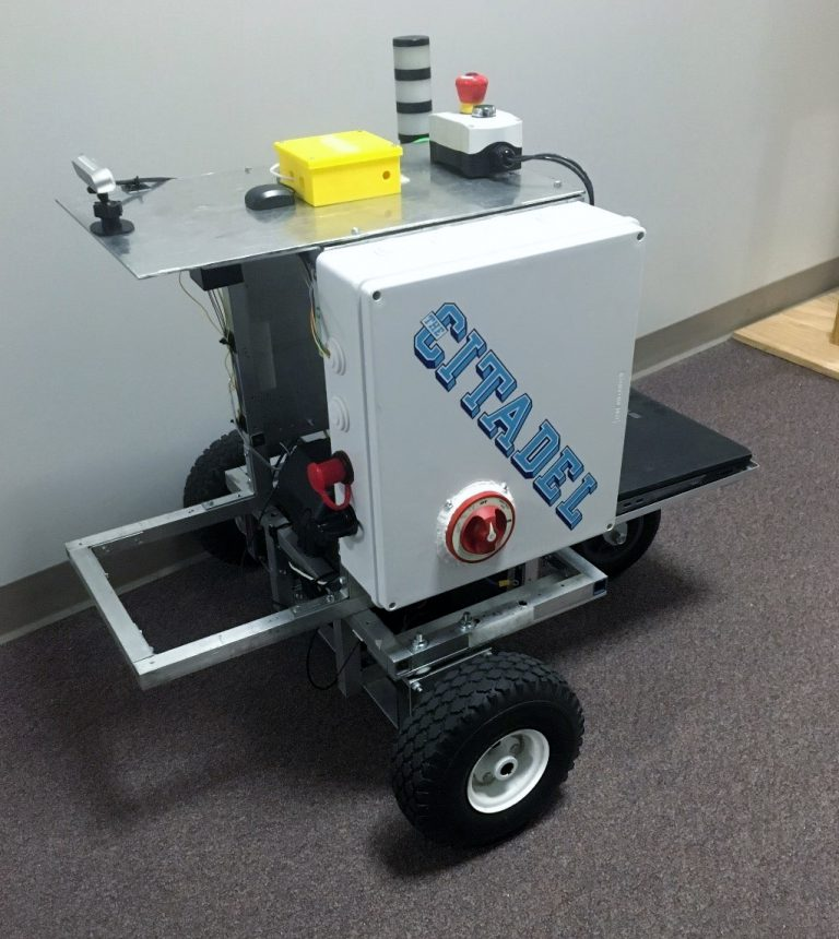 Bender, an intelligent ground vehicle developed by students in The Citadel School of Engineering
