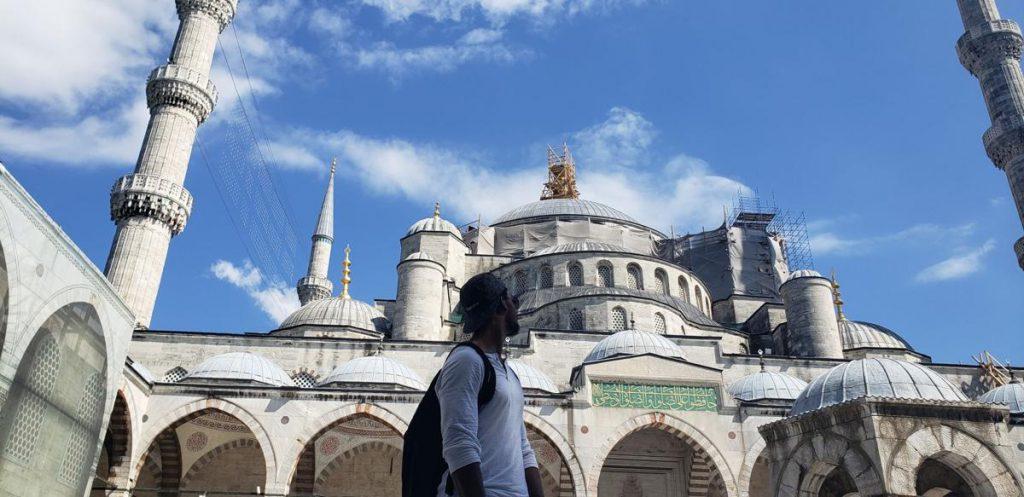 Citadel graduate Cam Jackson enjoying the sights in Turkey.
