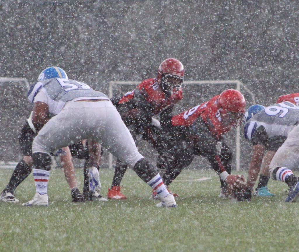 Former Citadel standout Cam Jackson played a game in the snow during his stint in Turkey.