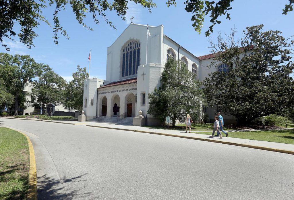 The Citadel Chapel was built in 1939 with funds appropriated by the S.C. State Legislature and a Public Works Administration grant. (Courtesy: Brad Nettles/The Post and Courier)