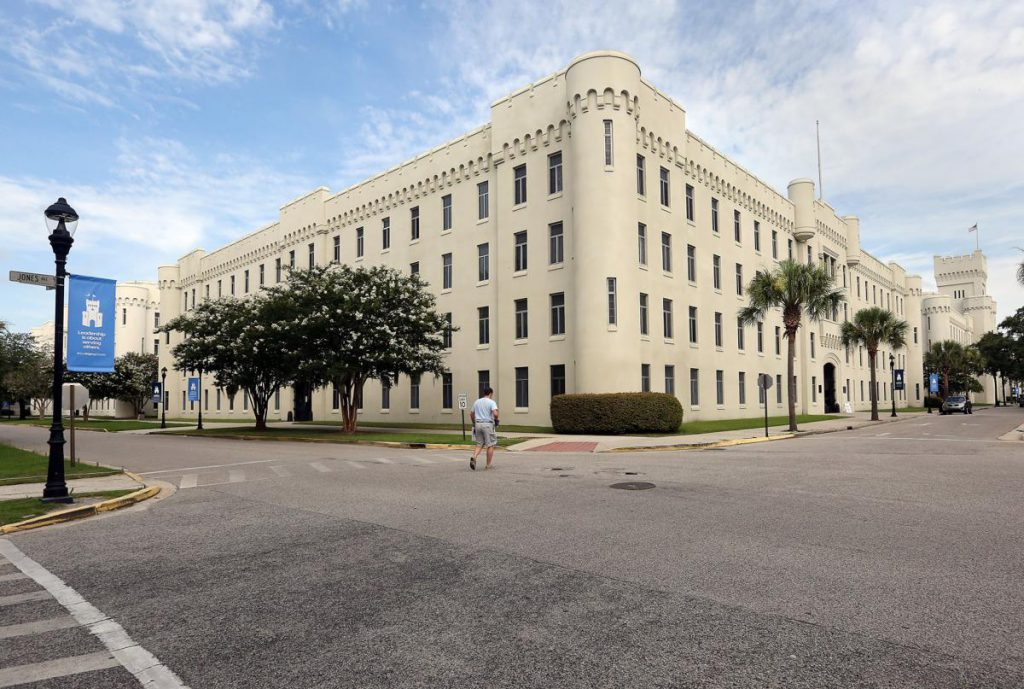The original Law Barracks at the Citadel were built in 1939 with funds appropriated by the S.C. State Legislature and a Public Works Administration grant. The barracks were torn down and replaced with a new barracks in 2007. (Courtesy: Brad Nettles/The Post and Courier)