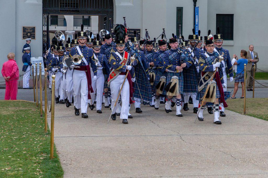 Citadel Pipe Band performing at the Presidental Innaugration parade 2018