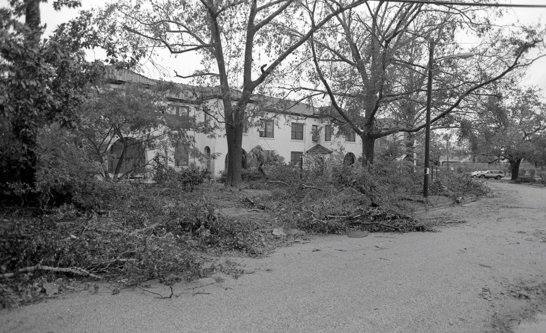 Fallen branches on The Citadel campus