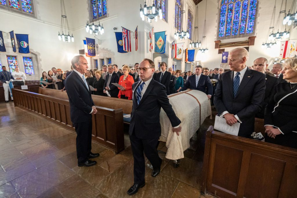 Funeral for Sen. Fritz Hollings in Summerall Chapel on April 16, 2019