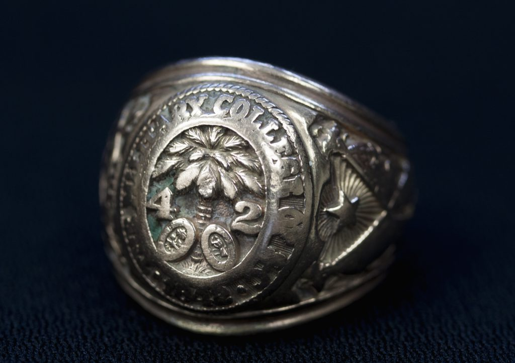 Fritz Hollings 1942 class ring