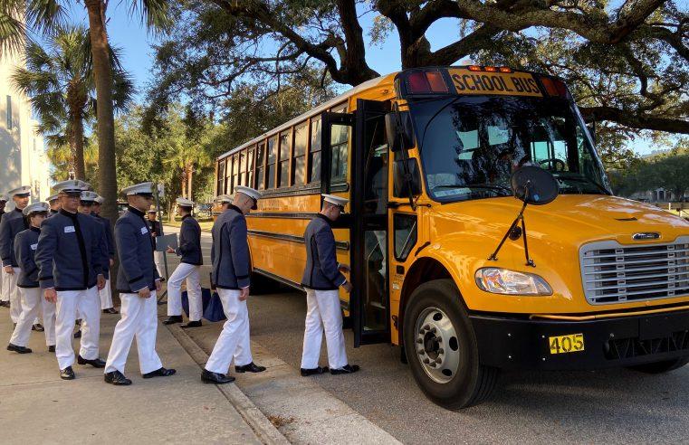 Cadets departing to volunteer on