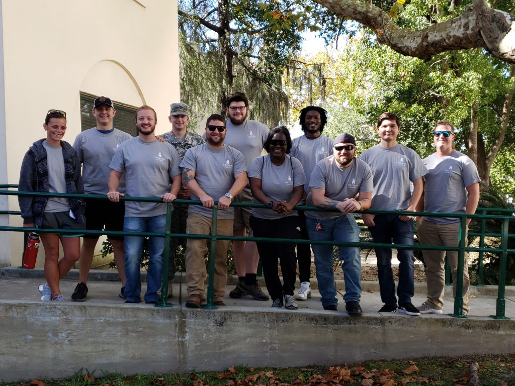 Veteran students on Leadership Day 2019