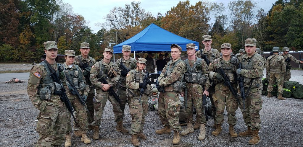 Cadets who were part of Breana Broad's team during the Ranger Challenge