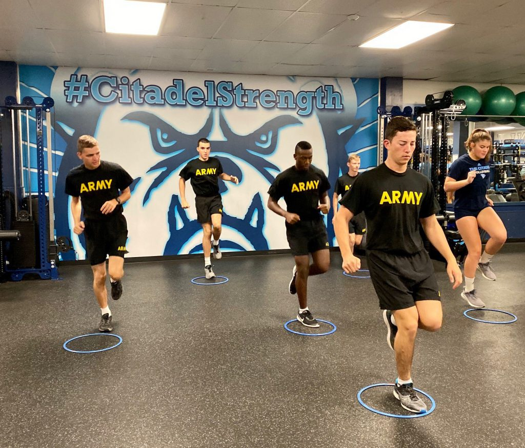 Citadel AROTC cadets training for the new Army Combat Fitness Test