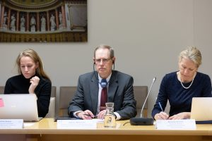 Citadel oceans toxicology researcher Dr. John Weinstein on panel of scientists address members of French Parliament