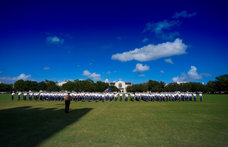 Cadets on Summerall Field at The Citadel