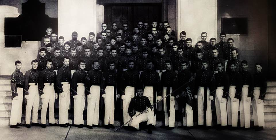 Cadet Charles Foster seen in Golf Company yearbook photo, upper left