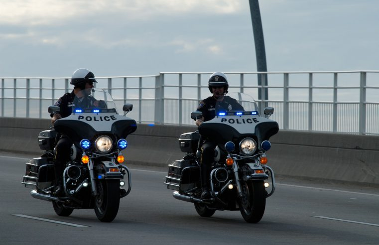 Charleston Police officers on motorcycles