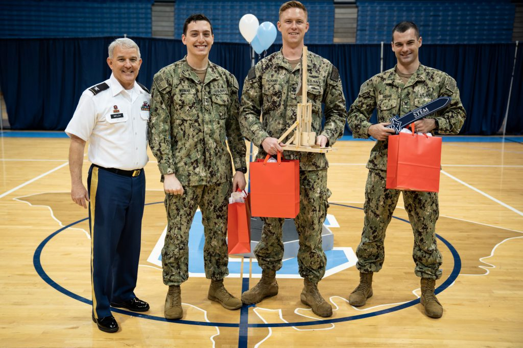 The Citadel Navy team, first place in accuracy
