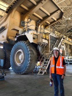 Cadet Julianne DeSale on site during her engineering internship with a global mining company