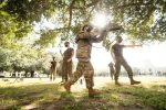 Marine Corps ROTC lab takes place on Summerall Field at The Citadel in Charleston, South Carolina on Thursday, September 3, 2020. (Photo by Cameron Pollack / The Citadel)