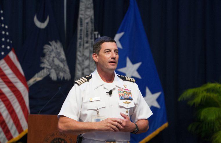 Captain Geno Paluso addressing freshmen in 2018