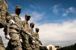 A portion of the South Carolina Corps of Cadets participates in parade practice on Summerall Field at The Citadel in Charleston, South Carolina on Thursday, November 5, 2020.