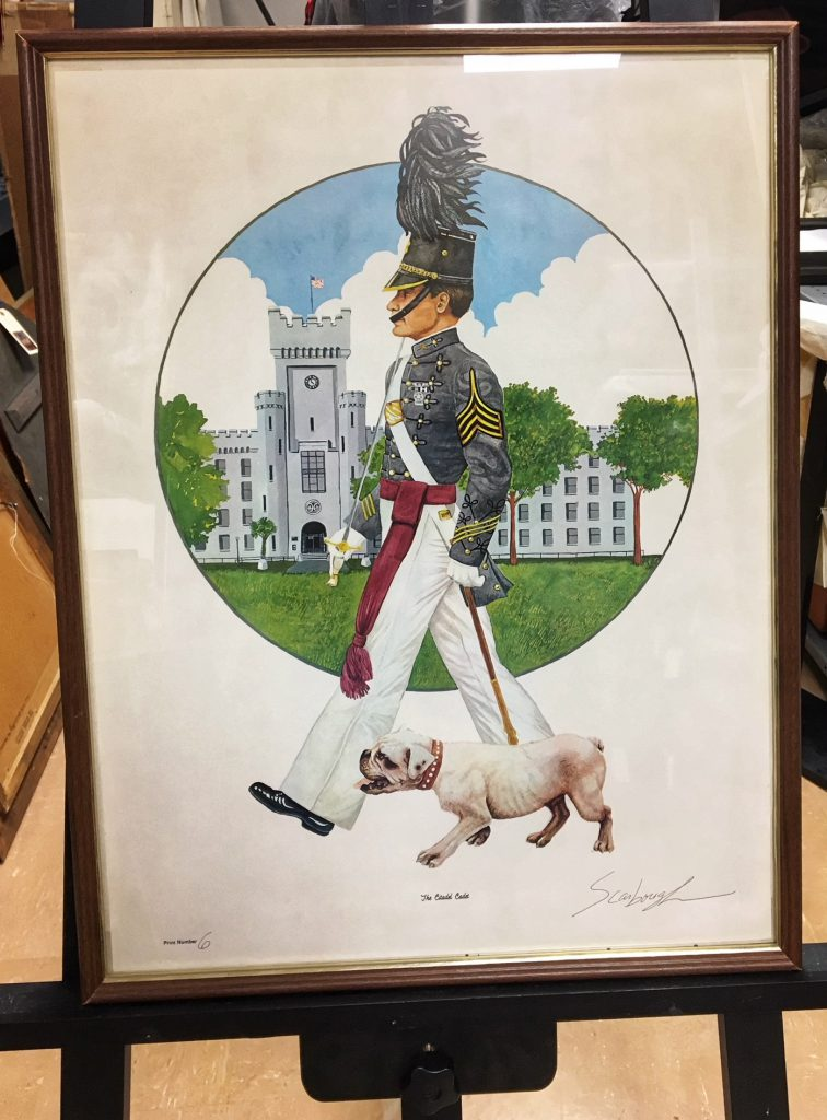 Artwork by the late veteran and artist, Robert Scarbough, USN, commissioned by The Citadel Foundation in 1997. Courtesy of The Citadel Archives and Museum.